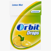 Orbit Drops Lemon Mint cukormentes cukorka 33 g