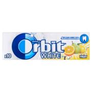Orbit White Fruit gyümölcsízű cukormentes rágógumi 10 db 14 g