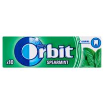 Orbit Spearmint mentaízű cukmentes rágógumi 10db 14g