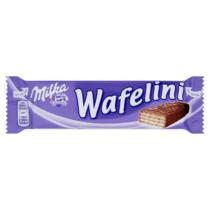 Milka Wafelini alpesi tejcsokoládéba mártott tejes ízű krémmel töltött ostya 31g