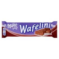 Milka Wafelini Chocomax alpesi tejcsokoládés kakaós krémmel töltött kakaós ostya 31g