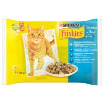 Friskies állateledel macskáknak 4x100g Halas