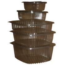 Salátás doboz egybefedeles  PET 1000ml 100db/cs 7618, 4172