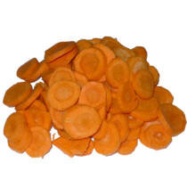Tisztított  friss sárgarépa karika vcs. 5kg