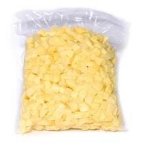 Tisztított  friss burgonya  kocka 20x20 mm vcs. 5kg