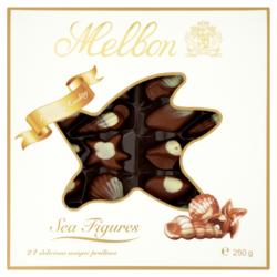 Melbon tengeri csigák tejes fehér csokoládé mogyorókrémmel 24 db 250g