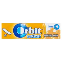 Orbit for Kids Tropical Fruit trópusi gyümölcsös cukormentes rágógumi 5db 13g