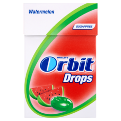 Orbit Drops Watermelon cukormentes cukorka 33 g