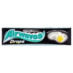 Airwaves Drops Strong méz-menthol-eukaliptusz cukorka C-vit.33,5g