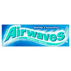 Airwaves Menthol & Eucalyptus drazsé cukormentes rágógumi 14g