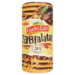 Győri Édes Zabfalatok csokis zabpelyhes, omlós keksz 244 g