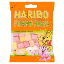 Haribo Funny Cubes gyümölcsízű habosított gumicukorka 85 g