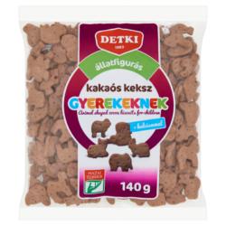 Detki állatfigurás kakaós keksz gyerekeknek kalciummal 140 g