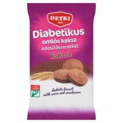 Detki diabetikus kakaós omlós keksz édesítőszerekkel 180 g