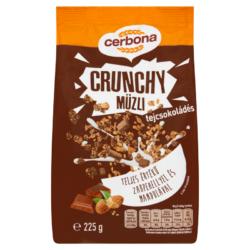 Cerbona Crunchy ropogós tejcsokoládés müzli 225 g