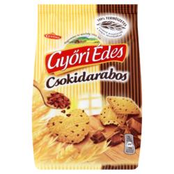 Győri Édes csokidarabos omlós keksz csokoládé darabokkal 150 g
