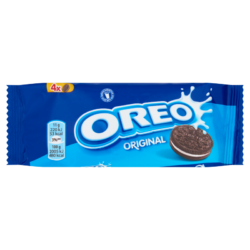 Oreo Original vanília ízű krémmel töltött kakaós keksz 44 g
