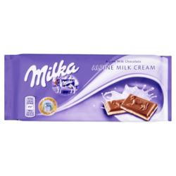 Milka alpesi tejcsokoládé tejszínes töltelékkel 100 g