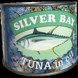 Silver Bay aprított tonhal növényi (szója) olajban 1705g