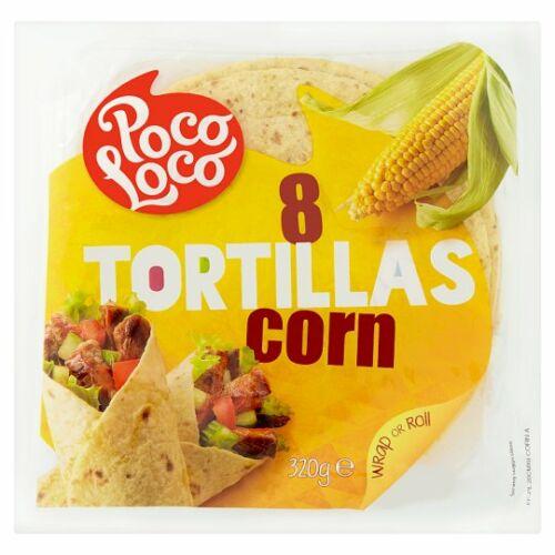 Poco Loco Tortilla kukoricás 320g 8db/cs