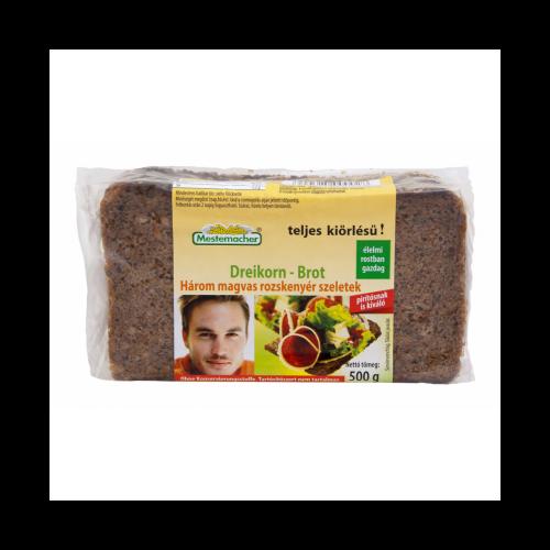 Hárommagvas kenyér Benus 500 g