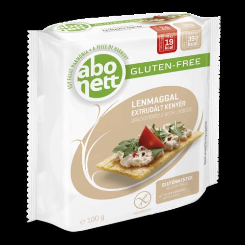 Abonett extrudált kenyér Lenmagos gluténmentes 100g