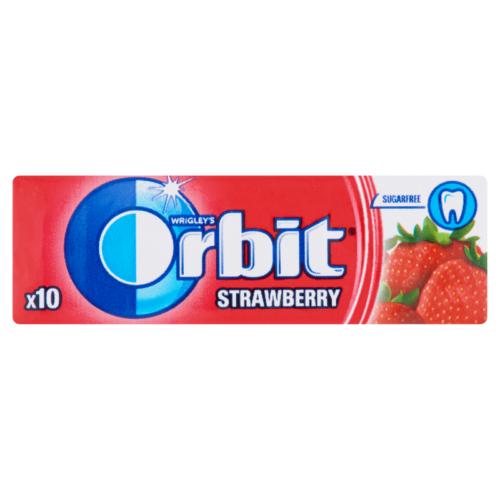 Orbit Strawberry eperízű cukormentes rágógumi 10 db 14 g