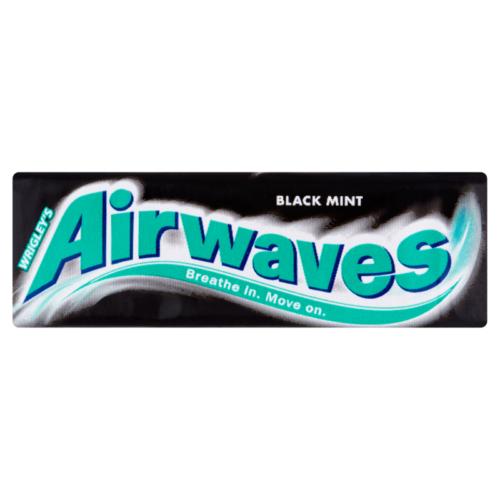 Airwaves Black Mint mentol- és ánizsízű cukormentes rágógumi 14 g