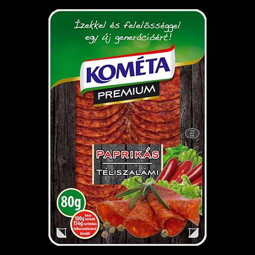 Kometa prémium téliszalámi paprikás 80g 1387