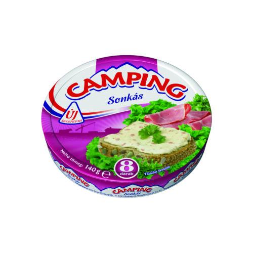CAMPING sonkás kenhető, zsírdús ömlesztett sajt 140 g 3305