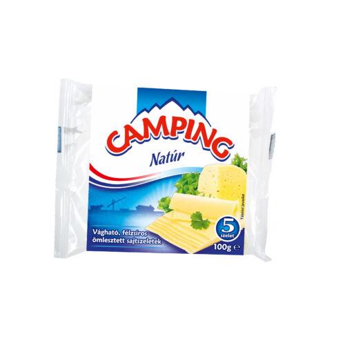 CAMPING Natúr vágható, félzsíros ömlesztett sajtszeletek 100 g 3308