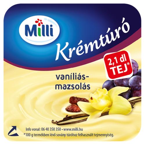 Milli Krémtúró vaníliás-mazsolás 90g 5403