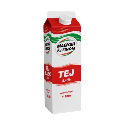 Magyar és Finom dobozos tej 2.8% 1l 7027