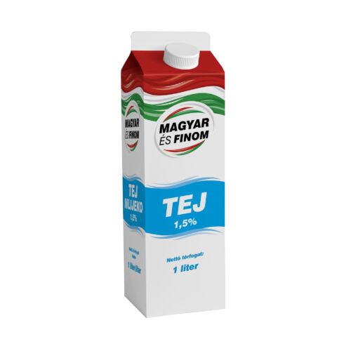 Magyar és Finom dobozos tej  1.5% 1l 7028