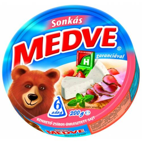 Medve sajt sonkás dobozos 200g 4106