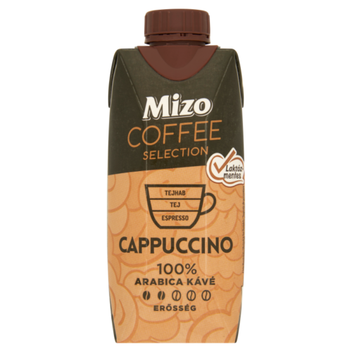 Mizo Coffee Selection félzsíros UHT kávés tej laktózmentes Cappuccino 330ml 6120