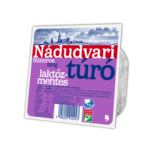 Túró laktózmentes 250g Nádudvari 2631