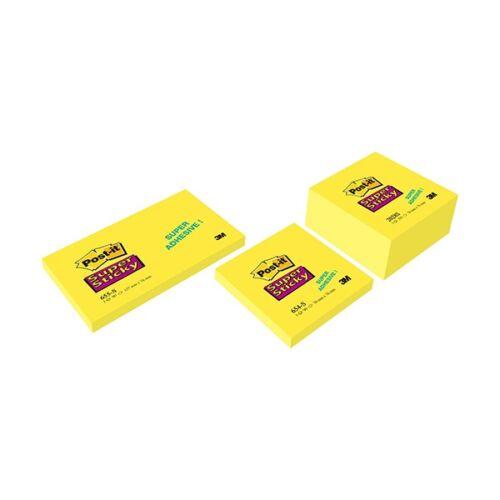 Öntapadós jegyzet 3M Post-it LP2028SS Super Sticky 76x76mm élénk sárga 350 lap