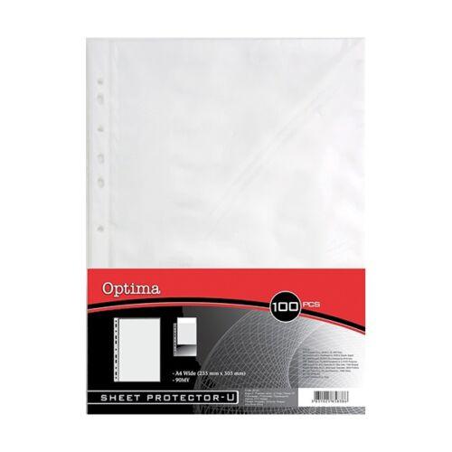 Lefűzhető genotherm OPTIMA A/4 90mikron víztiszta 50 db/csomag