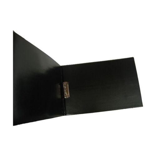 Mappa villámzáras A/4 pvc fekvő fekete