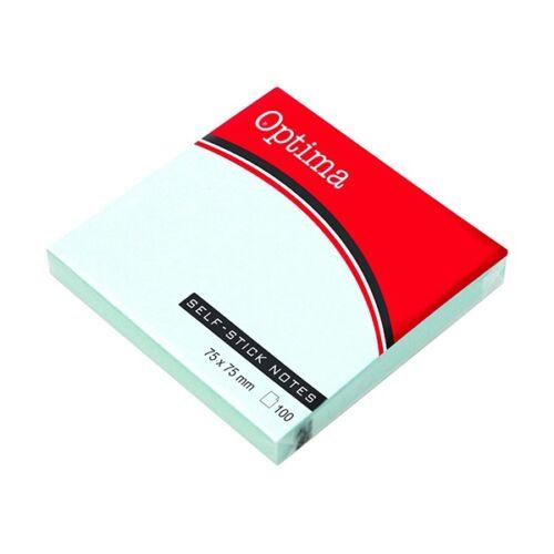Öntapadós jegyzet OPTIMA 75x75mm pasztell kék 100 lap