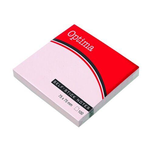 Öntapadós jegyzet OPTIMA 75x75mm pasztell rózsa 100 lap