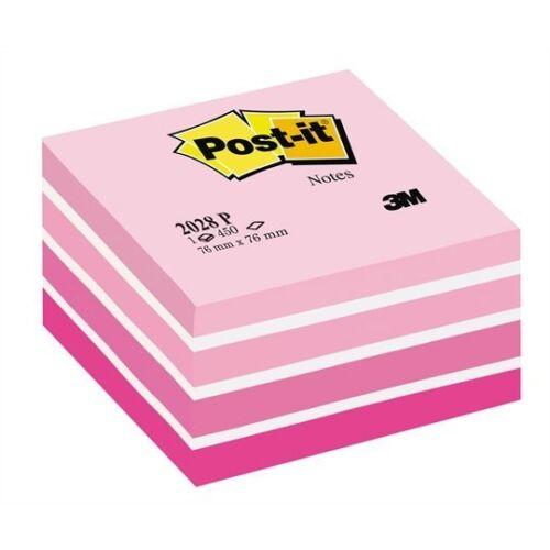 Öntapadós jegyzet 3M Post-it LP 2028P 76x76mm aquarell pink 450 lap