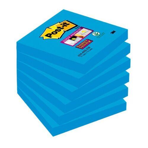 Öntapadós jegyzet 3M Post-it LP6546SSEB 76x76mm Super Sticky kék és árnyalatai 90 lap