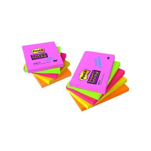 Öntapadós jegyzet 3M Post-it 654S-N 76X76mm színes Sticky 90 lap