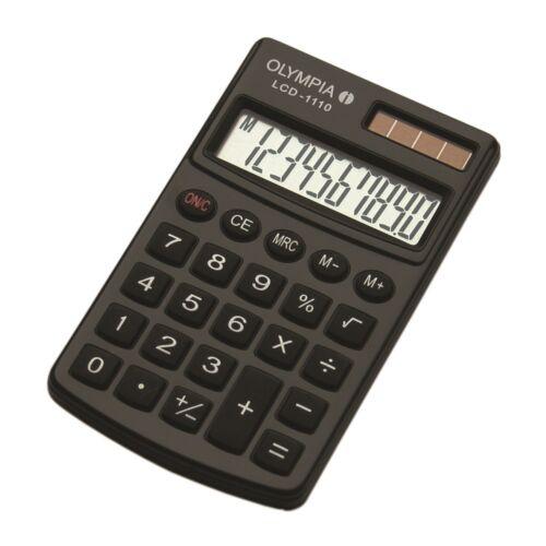 Számológép zseb OLYMPIA LCD-1110 10 digit fekete