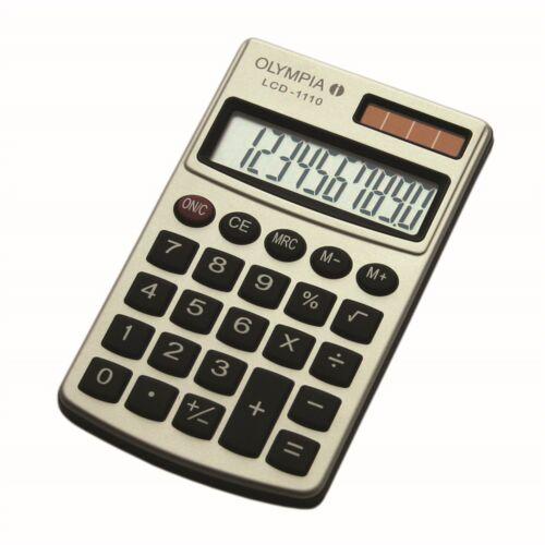 Számológép zseb OLYMPIA LCD-1110 10 digit ezüst