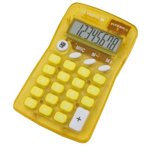 Számológép zseb OLYMPIA LCD-825 8 digit sárga