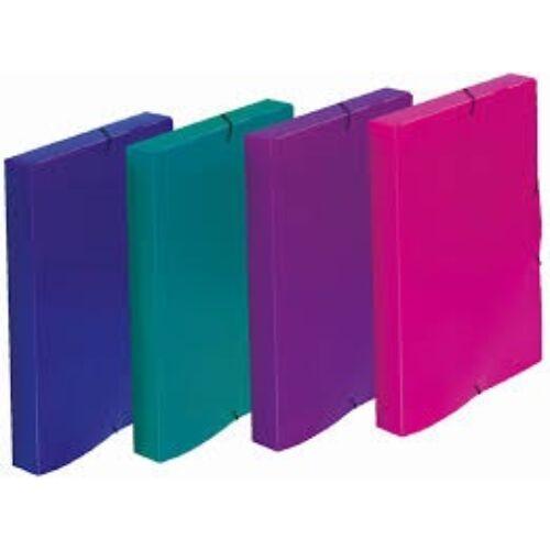 Füzetbox ELECTRA A/4 PP kék