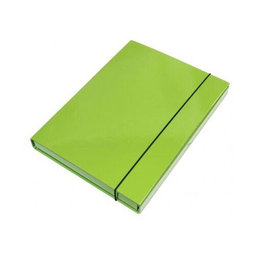 Füzetbox OPTIMA A/4 3 cm-es gerinccel zöld